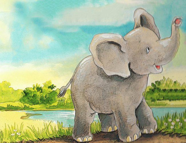 Progressive Muskelentspannung für Kinder - Elefantenbild